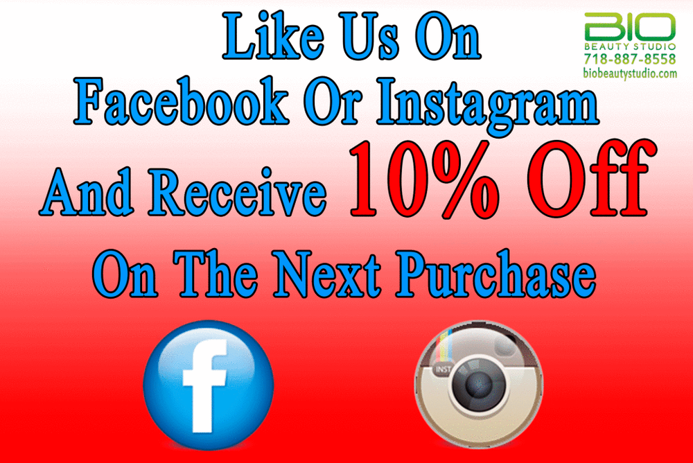 Like Us On Facebook Or Instagram Get 10% Off